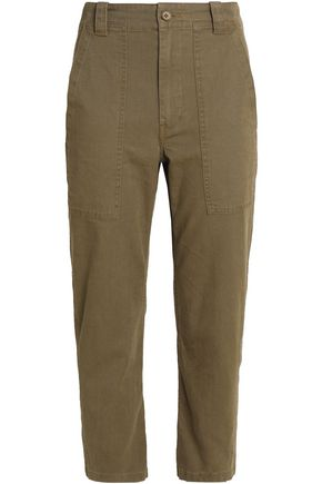 VINCE. Cotton-blend canvas slim-leg pants