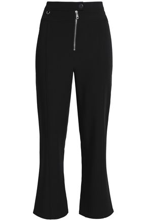 CINQ À SEPT Cropped stretch-crepe straight-leg pants