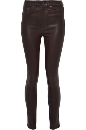 RAG & BONE/JEAN Leather skinny pants