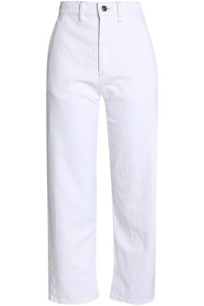VINCE. Cropped high-rise boyfriend jeans