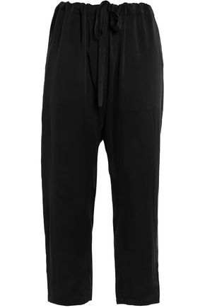 ZIMMERMANN Cropped washed-silk tapered pants