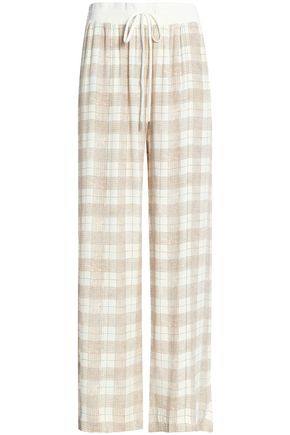 ZIMMERMANN Checked cady wide-leg pants