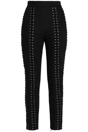 Lace Up Twill Skinny Pants by Zimmermann