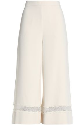 ZIMMERMANN Lace-trimmed crepe culottes