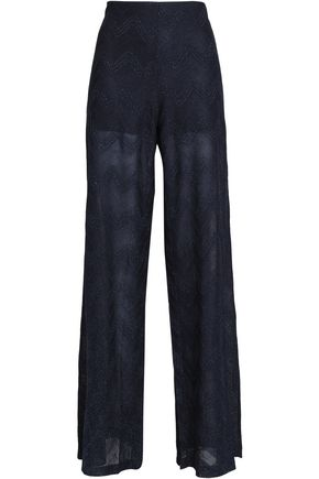 M MISSONI Metallic jacquard-knit wide-leg pants
