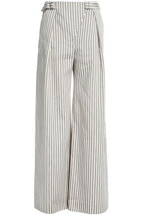ZIMMERMANN Pinstriped cotton-blend wide-leg pants