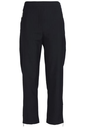 ZIMMERMANN Pinstriped wool-blend tapered pants
