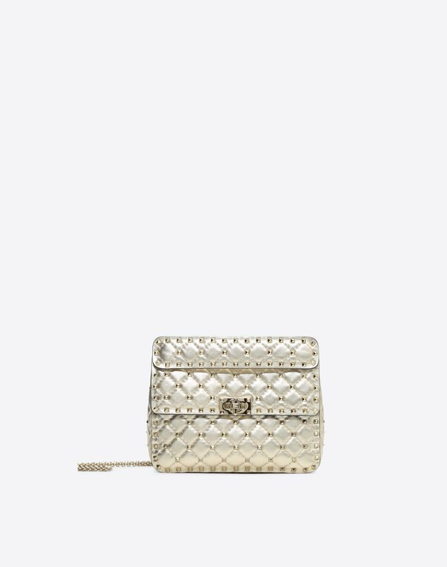 feffbfbb53 Medium Metallic Rockstud Spike Bag for Woman   Valentino Online Boutique