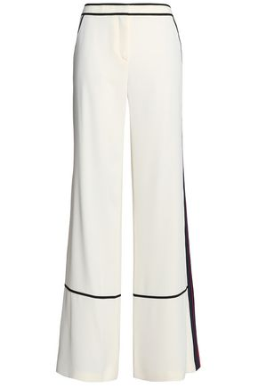 TORY BURCH Crepe de chine flared pants