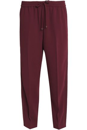 T by ALEXANDER WANG Cropped crepe track pants