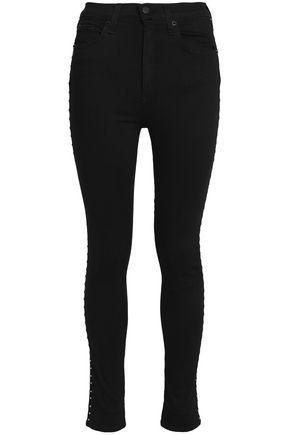 RAG & BONE/JEAN Studded high-rise skinny jeans