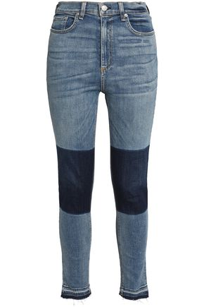 RAG & BONE/JEAN Two-tone high-rise skinny jeans