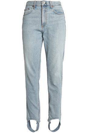 RAG & BONE Faded high-rise slim-leg stirrup jeans