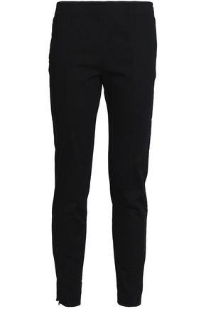 T by ALEXANDER WANG Cotton-gabardine slim-leg pants