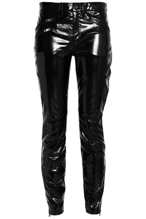 RAG & BONE Patent-faux leather skinny pants