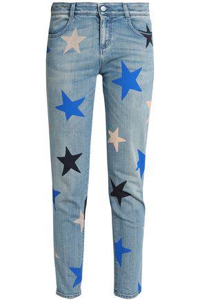 STELLA McCARTNEY Printed mid-rise slim-leg jeans