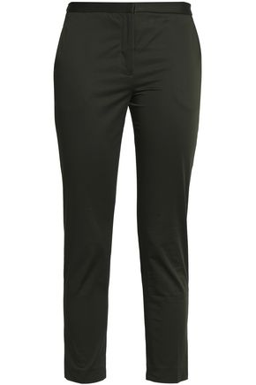 ROSETTA GETTY Cropped stretch-cotton slim-leg pants