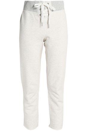 RAG & BONE/JEAN Cotton-terry straight-leg pants