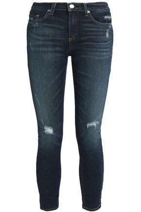 RAG & BONE/JEAN Distressed skinny jeans