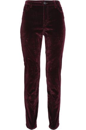 MAJE Velvet slim-leg pants
