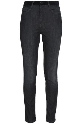 MAJE Faded high-rise skinny jeans