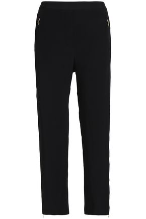 ZIMMERMANN Cropped crepe slim-leg pants