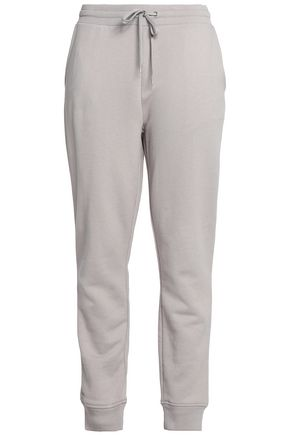 T by ALEXANDER WANG Mélange cotton-blend track pants