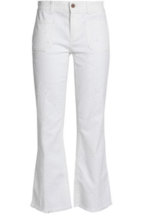 STELLA McCARTNEY Distressed mid-rise bootcut jeans