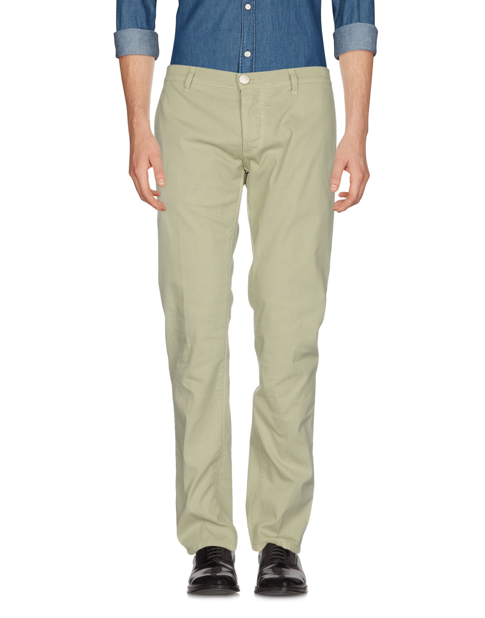 CESARE ATTOLINI Casual Pants in Military Green