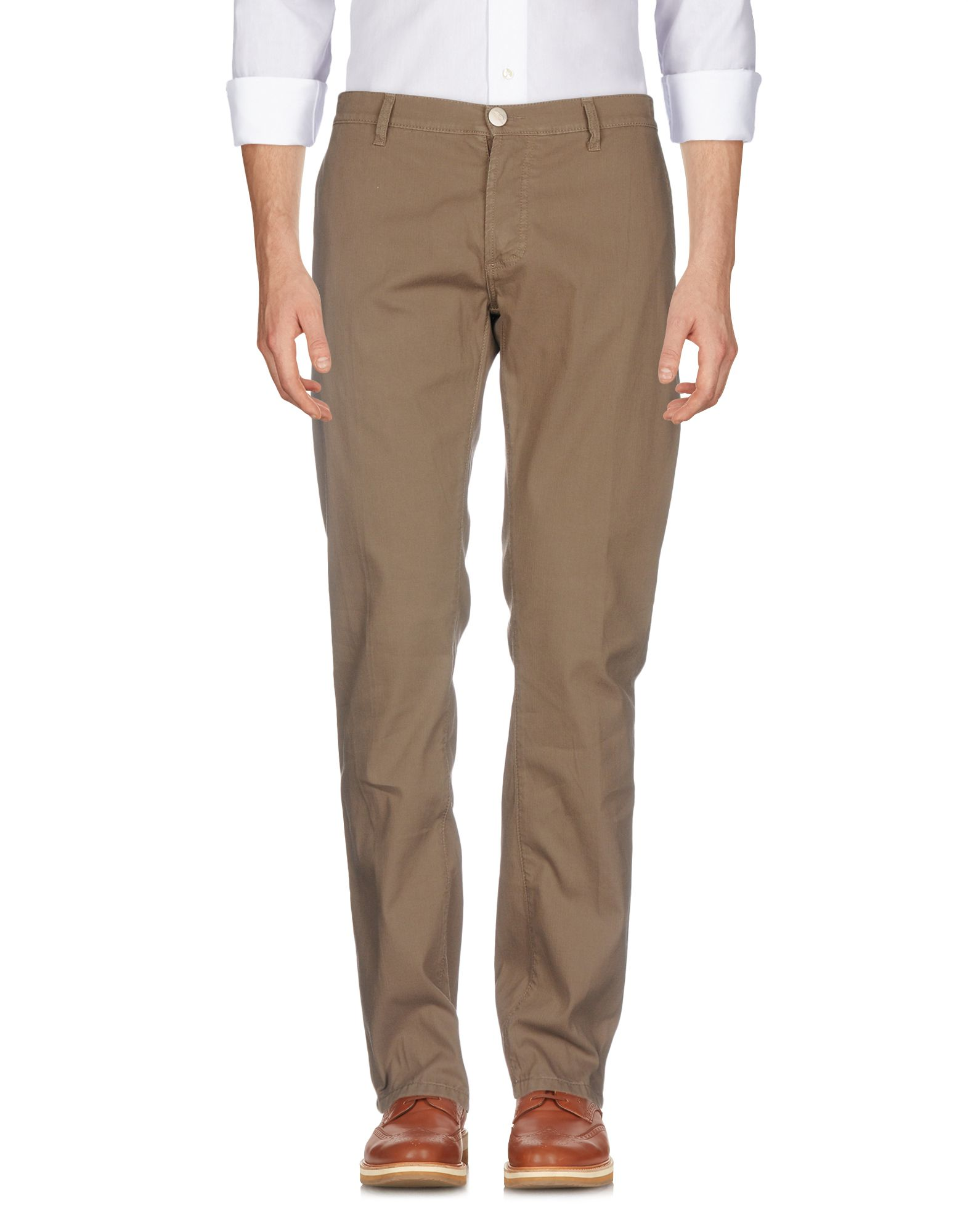 CESARE ATTOLINI Casual Pants in Khaki