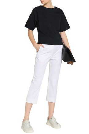 JIL SANDER Cropped cotton-blend twill tapered pants
