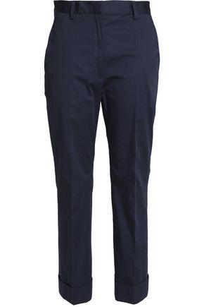 JIL SANDER Cropped stretch-cotton slim-leg pants