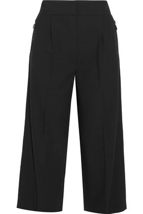 IRIS & INK Etta marled cotton-blend wide-leg pants