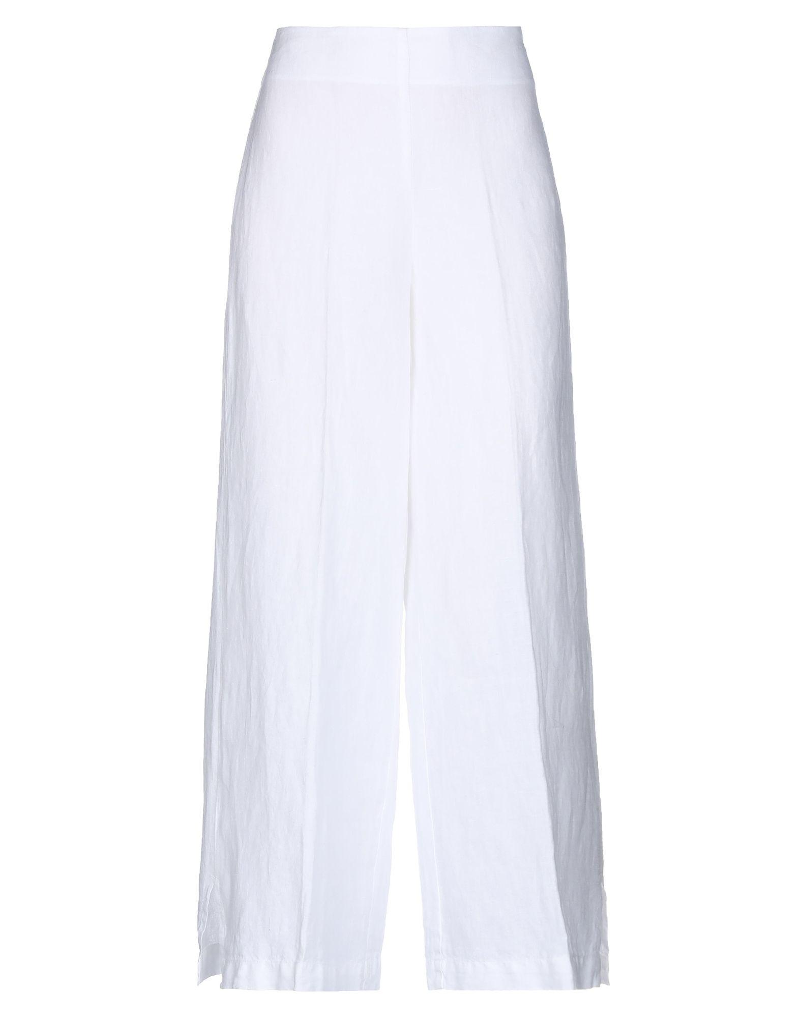 《送料無料》STEFANO MORTARI レディース パンツ ホワイト 38 麻 100%
