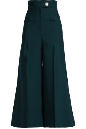 ROKSANDA Wool, silk and cotton-blend culottes