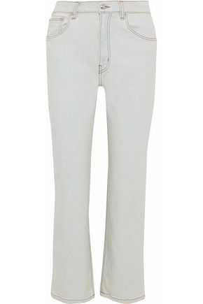 DEREK LAM 10 CROSBY High-rise straight-leg jeans