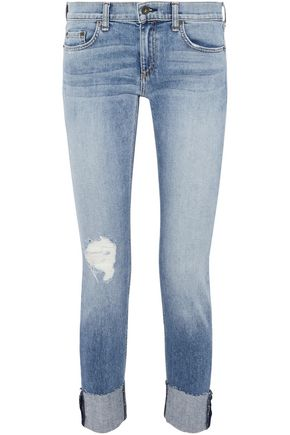 RAG & BONE Dre cropped distressed low-rise skinny jeans