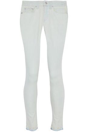 DEREK LAM 10 CROSBY Distressed mid-rise skinny jeans