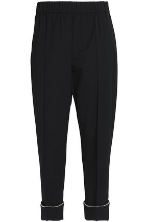 ALEXANDER WANG Cropped twill tapered pants