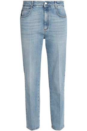 STELLA McCARTNEY Faded mid-rise straight-leg jeans