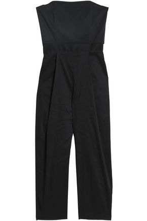 SEA Strapless cropped wool-blend jumpsuit