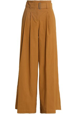 SEA Pleated woven wide-leg pants