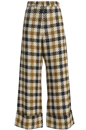 SEA Houndstooth jacquard wide-leg pants