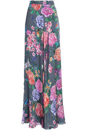 MATTHEW WILLIAMSON Floral-print silk maxi skirt