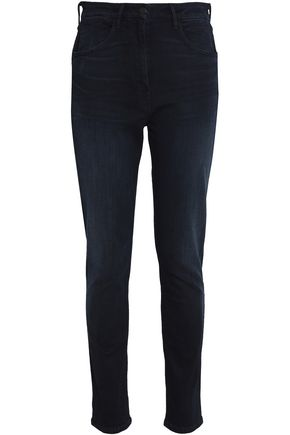 3x1 High-rise faded slim-leg jeans