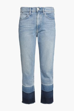 3x1 Dégradé frayed straight-leg jeans
