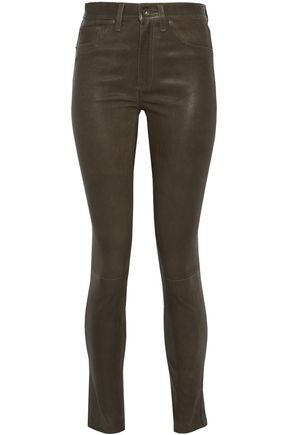 RAG & BONE Leather skinny jeans