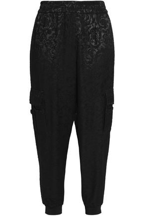 ALICE + OLIVIA JEANS Dede jacquard tapered pants