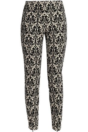 ALICE + OLIVIA Royce cropped jacquard leggings