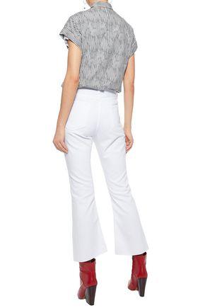 RAG & BONE Distressed high-rise flared jeans